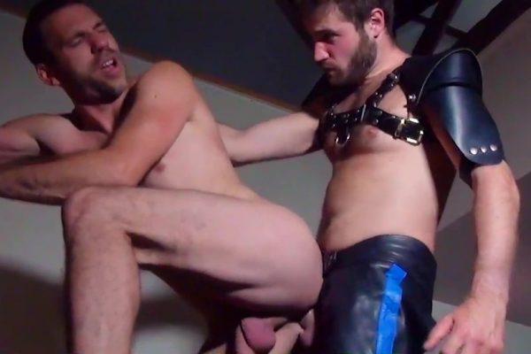 Slave bottom Paul gets the cum he needs