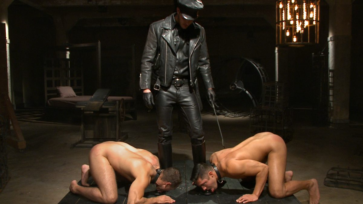 Leather Master Christian and Van Humiliate and Abuse Seth and Brock - Part 1