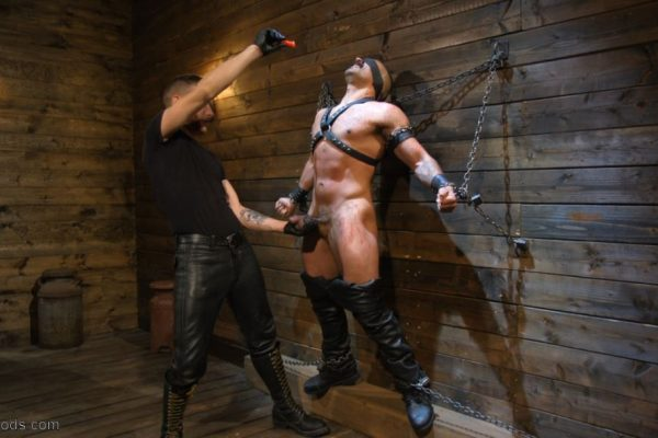 Muscle Stud Chad Stone Gets Abused by Sadistic Masters Dominic Pacifico and Sebastian Keys