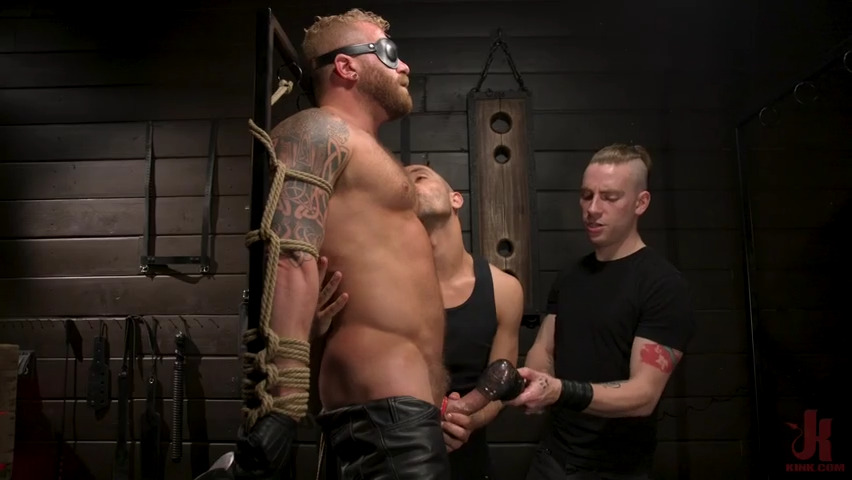Men On Edge: Leather Stud Riley Mitchell Gets Edged