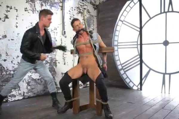 Michael DelRay Ties Up & Barebacks Nic Sahara